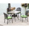 Jardins extérieurs extérieurs Meubles de jardin en aluminium moulés Chaises de salle à manger (D518; S218)