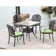 Muebles de jardín de aluminio exterior fundido que cenan sillas (D518; S218)