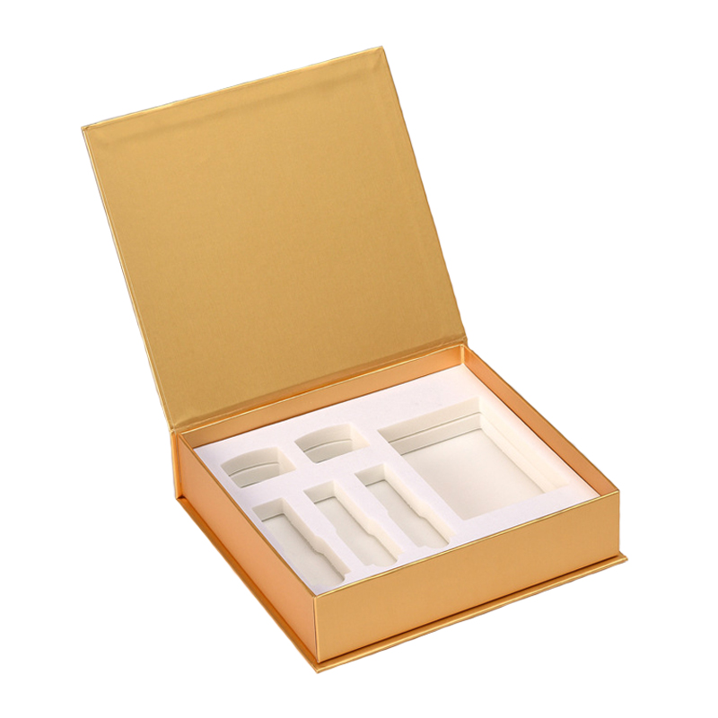 Gold Paper Cosmetic Rigid Gift Box