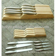 7pcs kitchen knives with a wooden knife tray