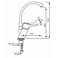 Смеситель из латуни для кухонной мойки на гусиной шее с функцией поворота