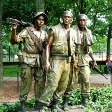 public décoration métal homme statue vie taille soldat bronze sculpture