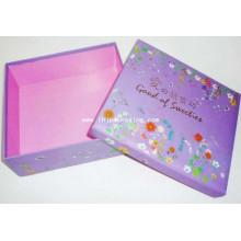 Caja de papel de alta calidad de embalaje de cartón de regalo con estampación de láminas