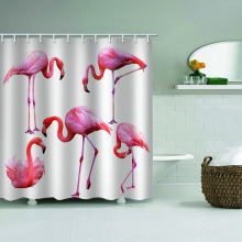 Flamingo Impermeable Cortina de ducha Animal Bird Baño Decoración
