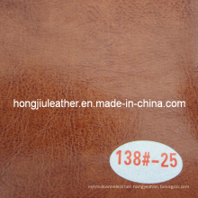 Bicolor Waxy Oil Leather for Furniture (Hongjiu-R64)