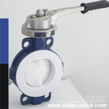 PTFE/PFA/FEP Linning Wafer Butterfly Valve