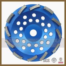 Roue abrasive diamantée pour plancher et plancher en résine époxy