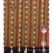 Vidro cortina frisada para decoração de interior