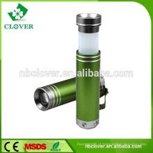 Fábrica fornecedor 1W LED mini alumínio levou lanterna lanterna