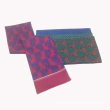 Двойной Сторона полиэстер пробка напечатанная нестандартная Конструкция шарф с бахромой