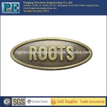 Placa de logotipo de metal personalizado de alta precisão
