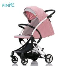 AIMILE marque un frein à pied pliant bébé poussette couleurs roses landau landau fabriqué en chine