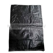 Sacs tissés anti-UV noirs de 25kg