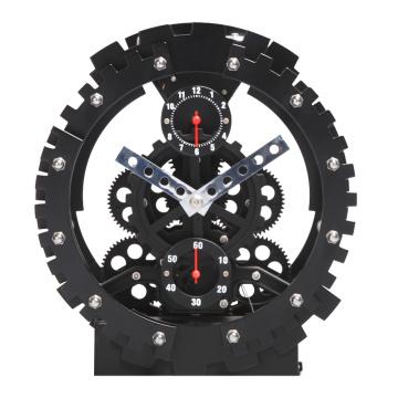 Relógio de mesa redondo preto da engrenagem de Alemanha Relógio Para Parede
