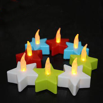 multi-colored battery operated LED tealight candle
