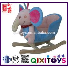Personalizado de alta qualidade pelúcia elefante cadeira de balanço
