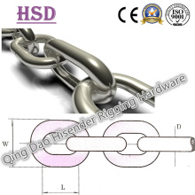 Acero inoxidable 304, 316 cadena enlace Material