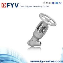 Válvula de Globo de Selo de Pressão em Aço Fundido de Tipo Y