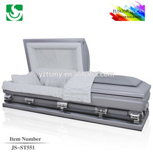 wholesale grey 20 gauge square corner metal casket