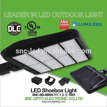 Prix ​​usine UL CUL DLC IP65 LED Parking Shoebox Light 480w