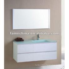 Новая мебель для ванной MDF Стеклянный бассейн супер белый