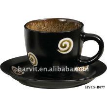 Tazón de cerámica a granel \ Set de taza de café, Copa de cerámica y platillo