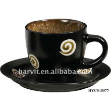 Tasse en céramique en vrac \ Ensemble de tasse de café, tasse et soucoupe en céramique