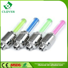 Plastic 1 led light tire valve cap for bicycle