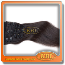 Highly Feedback black 30 inch can restyled cheap 100 human hair clip in hair extension