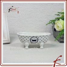 Weiße Glasur Keramik Badewanne Seifenschale