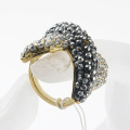 hotsale Gold Plated rhinestones Exaggerate Jewelry Ring For Women Fashion style wholsale