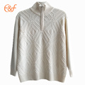 Sólido Cable Quarter Zip Pullover Sweater