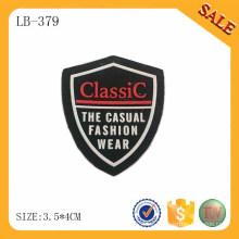 LB379 Etiqueta de la ropa del silicón 3d de la alta calidad, venta al por mayor de encargo de la etiqueta de la insignia del silicón