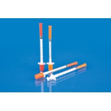 Медицинский одноразовый шприц для инсулина с CE, ISO
