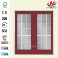 Red 15 Lite Steel Patio Door