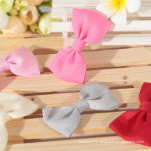 100% polyester solid color grosgrain ribbon bow handmade bows