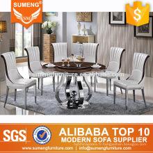 meubles turcs modernes élégants ensembles de table de salle à manger ronde