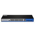 POE mit 24 Ports und 4 Port-Glasfaser-Switches für Netzwerkgeräte