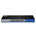Latest price 24 port POE with 4 port fiber swithes for networking devices