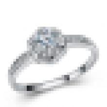 Bague à diamants en argent sterling 925 avec incrustation de mode pour femme