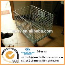 коробка дизайн Материал металл контейнер ячеистой сети с колесами