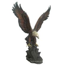 décoration animal en métal artisanat bronze extérieur aigle statues