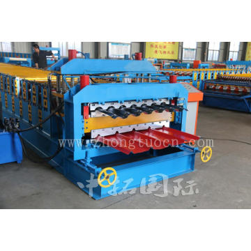 Double Layer Floor Board Tile Roll Forming Machine