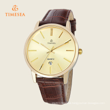 Fashion Stainless Steel Leather Men′s Analog Quartz Wrist Watch 72303