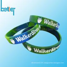 Custom Color Filled Silicone Silicone Wristband