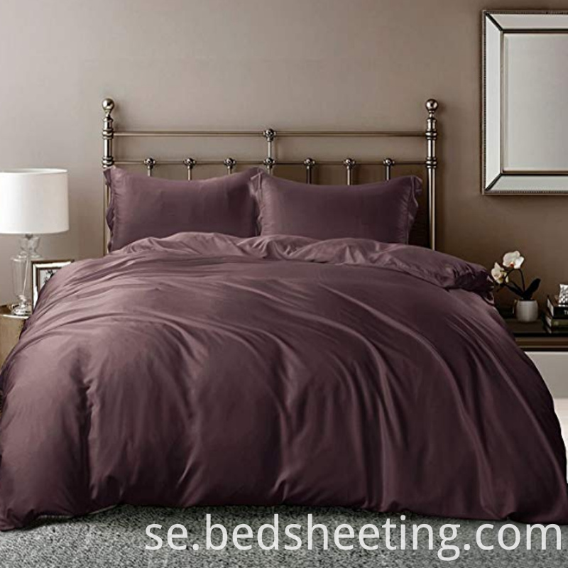 Silky Soft Bamboo Duvet Cover Grape