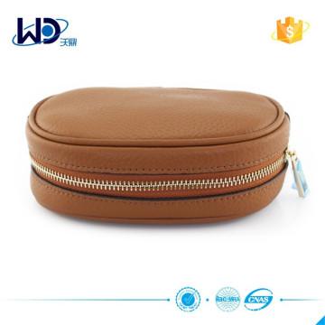 Portefeuille cuir en cuir marron personnalisé 2015