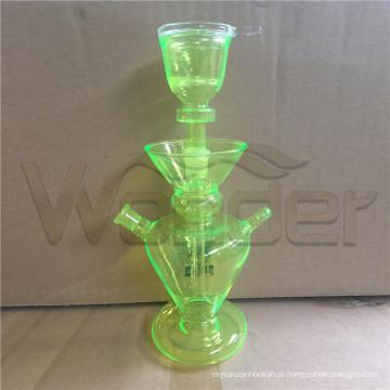 Pequenos cachimbos de água para venda barato cor verde e LED