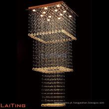 Lustre de luxo para escadas pingente de lustre moderno interior