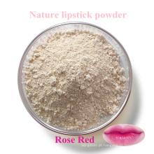 Batom natureza em pó / grau alimentício cor mudando Rose material de batom vermelho da natureza planta, cenouras etc